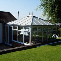 Edwardian Double Hipped Conservatory Renovation - Cropston 1/10