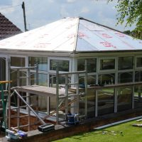 Edwardian Double Hipped Conservatory Renovation - Cropston 2/10
