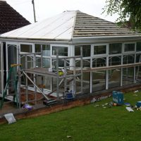 Edwardian Double Hipped Conservatory Renovation - Cropston 3/10