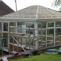 Edwardian Double Hipped Conservatory Renovation - Cropston 4/10