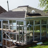 Edwardian Double Hipped Conservatory Renovation - Cropston 5/10