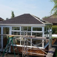 Edwardian Double Hipped Conservatory Renovation - Cropston 6/10