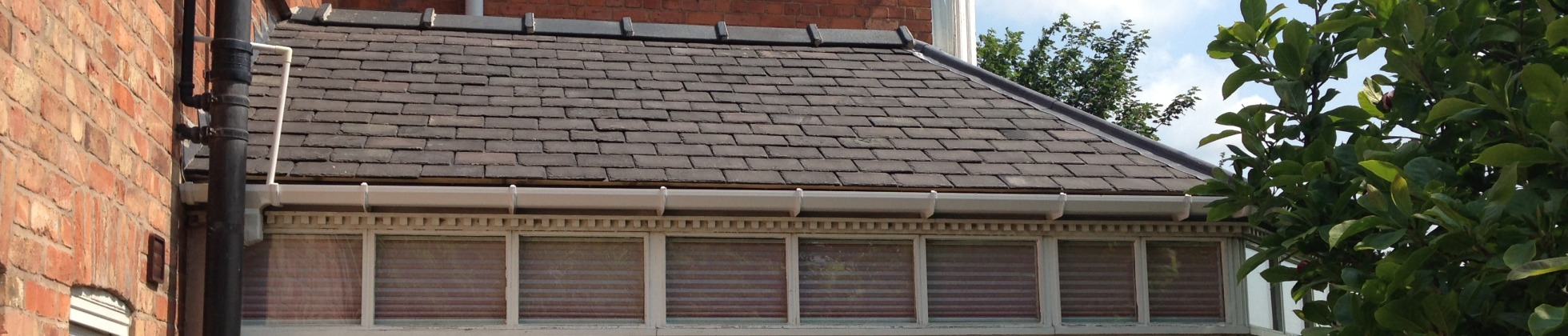 Slate conservatory roof renovation. Leicester